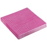 "Servietten: Party-Servietten ""Vichy Pink"", 33 x 33 cm, 20 Stück - 1"
