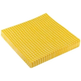 "Servietten: Party-Servietten ""Vichy Yellow"", 33 x 33 cm, 20 Stück - 1"