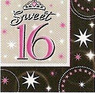 Servietten Sweet 16, dreilagig, 33 x 33 cm, 16 Stück - 1