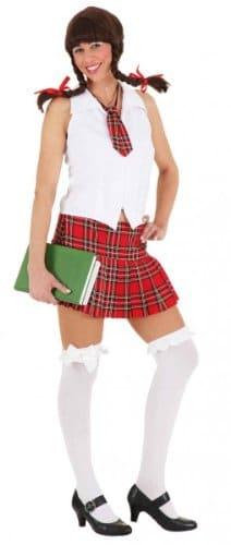 Sexy Schulmädchen : Faltenrock, Bluse und Krawatte) - 1