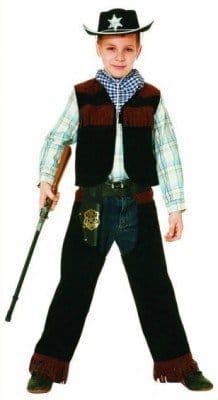 Sheriff Kostüm : Weste, Chaps und Tuch - 1