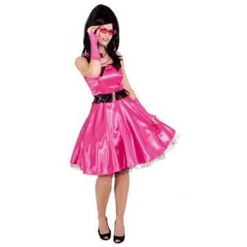 Sixties Kleid pink mit Petticoat - 1