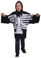 Skelett – Kostüm : Oberteil und Haube - 1