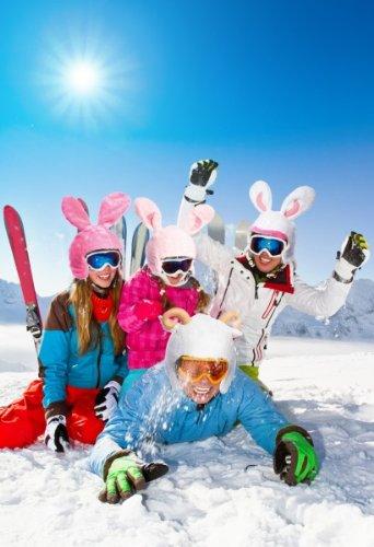 Skihelm-Verkleidung: Skihelm-Cover, Hase, rosa, Skihelmüberzug Snowboardhelm Überzug - 2