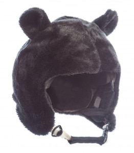 Skihelm-Verkleidung: Skihelmcover, Bär bzw. Panda, schwarz - 1