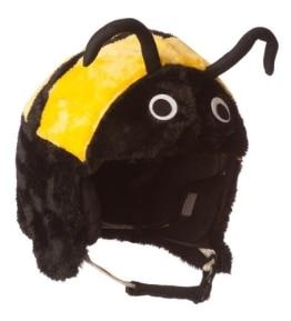 Skihelm-Verkleidung: Skihelmcover, Biene, schwarz-gelb - 1
