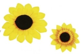 Sonnenblume zum Anstecken, 5 cm - 1