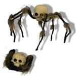 Spinne: Spinne mit Totenschädel, 20 cm - 1