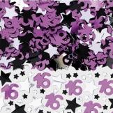 Streu-Deko: Konfetti, Sterne und Zahl 16, 14 g - 1