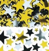 Streu-Deko: Streu-Konfetti, Sterne, drei Farben, 70 g - 1