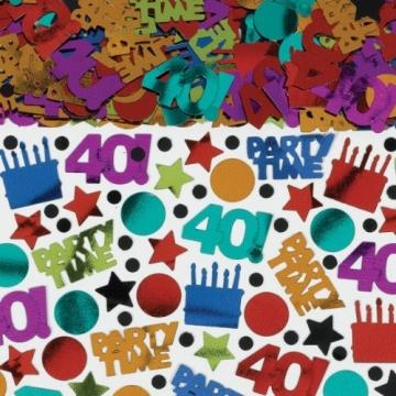 "Streu-Konfetti, ""Happy Birthday Megapack"", 40. Geburtstag, 70 g - 1"