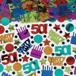 "Streu-Konfetti, ""Happy Birthday Megapack"", 50. Geburtstag, 70 g - 1"