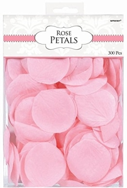 Streudeko: Rosenblätter, rosa-pink, ca. 5 cm, 300 Stück - 1