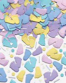 Streukonfetti: kleine Füßchen, verschiedene Farben, 14 g - 1