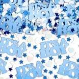"""Streukonfetti: Schriftzug """"It's A Boy"""", blau und weiß, Silberfolie, 14 g - 1"""