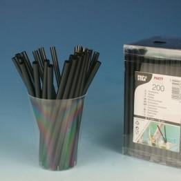 Strohhalme: Cocktail-Trinkhalme, schwarz, 125 mm, 200er-Box - 1