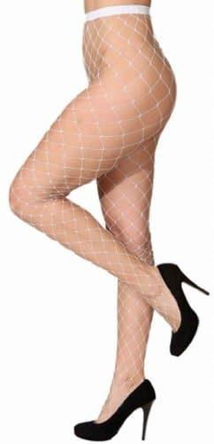 Strumpfhose: Netzstrumpfhose mit großem Netz, weiß - 1