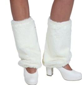 Stulpen: Beinstulpen, Fell, creme-weiß, 1 Paar - 1