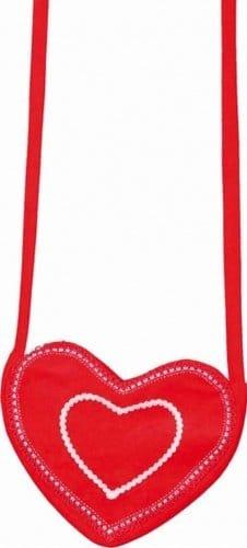 Tasche: Herz-Tasche, rot - 1