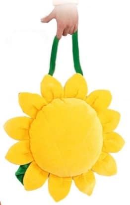 Tasche: Sonnenblumentasche, gelb, grüner Griff - 1