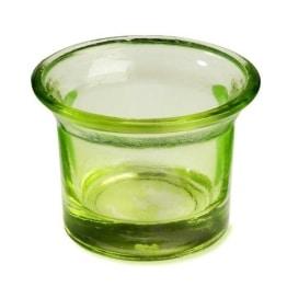 Teelichtglas: Kerzenglas, gruen, 4,5 cm Höhe - 1