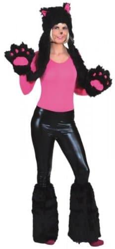 Tierkostüm: Katzenmütze mit Handschuhen, Einheitsgröße - 1
