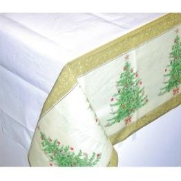 Tischdecke: Papier-Tischtuch, Weihnachtsbaum, 137 x 259 cm - 1