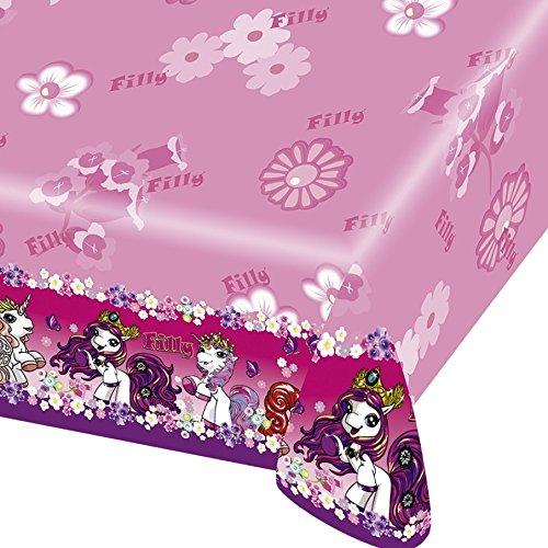Tischdecke tischtuch kunststoff motiv filly fairy for Party deko shop