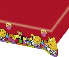 "Tischdecke: Tischtuch, Kunststoff, ""Smiley World"" Comic, 120 x 180 cm - 1"