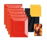 Tischdecke: Tischtuchrolle, Papier, schwarz-rot-gold, 10 m lang, 1 m breit - 1