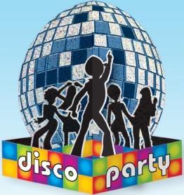 Tischdeko: Aufsteller Disco-Party mit Disco-Kugel, 25 cm - 1
