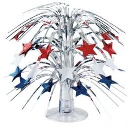 Tischdeko: Kaskade, Sterne/USA, blau, weiß, rot, 20 cm - 1