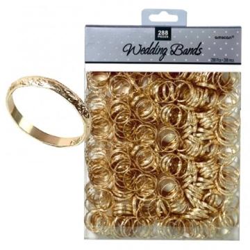 Tischdeko: kleine Hochzeitsringe, gold, 288 Stück - 1