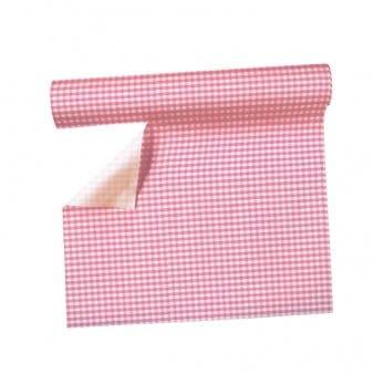 Tischläufer: Tischdecke bzw. Tisch-Sets, pink kariert, 360 x 40 cm, perforiert - 1