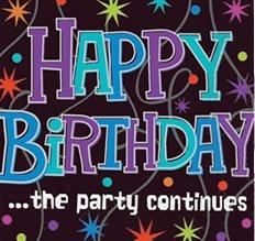 """Tischtuch mit Schriftzug """"Happy Birthday"""", Kunststoff, 137 x 259 cm - 1"""