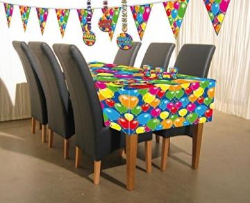 tischtuch tischdecke kunststoff serie balloons 130 x 180 cm party deko. Black Bedroom Furniture Sets. Home Design Ideas