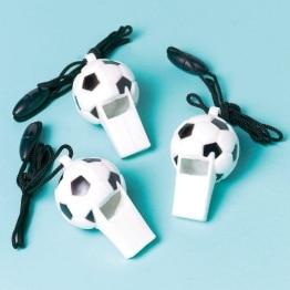 Trillerpfeife, Ballmotiv, 12er-Pack - 1