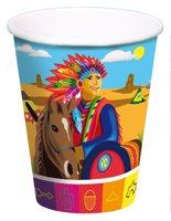 Trinkbecher: Becher, Indianer-Motiv, 250 ml, 8er-Pack - 1