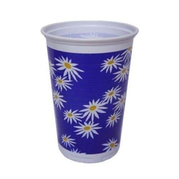 Trinkbecher MARGERITE blau gelb, 10er-Pack Blumendeko - 1