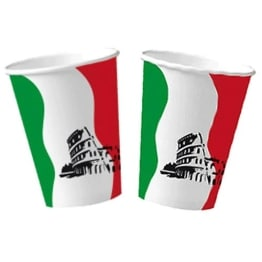 Trinkbecher: Pappbecher, Italien-Design, 200 ml, 10er-Pack - 1