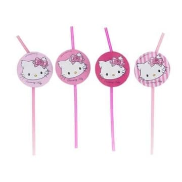 Trinkhalme: Strohhalme, Hello Kitty/Charmmy Kitty, 24 cm, sortiert, 8 Stück - 1