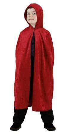 Umhang mit Kapuze in rot - 1