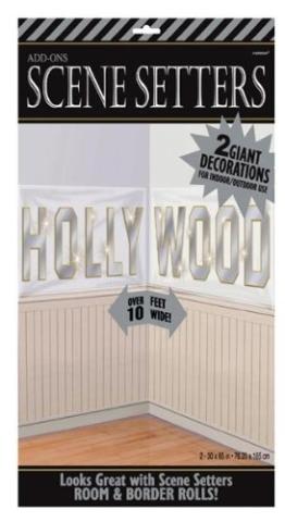 Wandtattoo: Deko-Folie, Hollywood-Schriftzug, 2 x ca. 76 x 165 m - 1