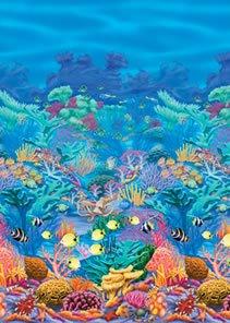 Wandtattoo, Korallenriff, Folie, 1,20 x 12,10 m - 1