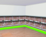 "Wandtattoo: Motiv-Folie, ""Stadion-Tribüne"", ca. 12 x 1,20 m - 1"