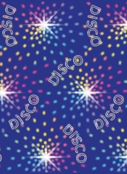"Wandtattoo: Scene-Setter, ""Disco Lights"", ca. 1,20 x 12,20 m - 1"