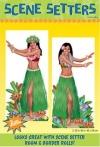 Wandtattoo: Scene-Setter mit Hula-Mädchen, 85 x 165 cm, 2 Folien - 1