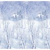 Wandtattoo: Wanddekoration, Winterlandschaft, bedruckte Folie, 1,20 m x 12,20 m - 1