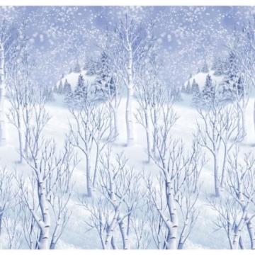 Wandtattoo: Wanddekoration, Winterlandschaft, bedruckte Folie, 1,20 m x 12,20 m - 2