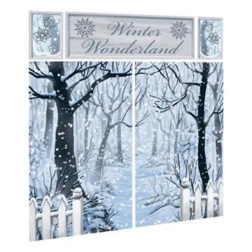 Wandtattoo wanddekoration winterlandschaft bedruckte - Winterlandschaft dekoration ...